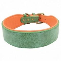 Large collier en cuir pour chiens moyens et grands